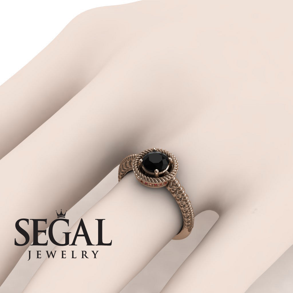 The Vintage Bling Black Diamond Ring- Penelope no. 5