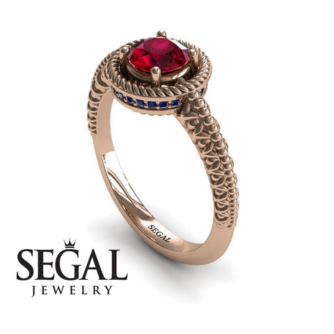 The Vintage Bling Ruby Ring- Penelope no. 8