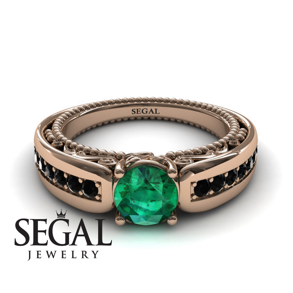 Stairway to Heaven Green Emerald Ring- Gabriella no. 14