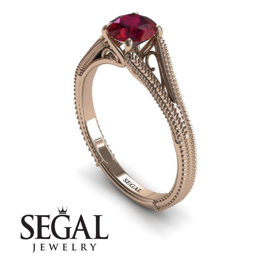 Ruby Vintage Engagement Ring