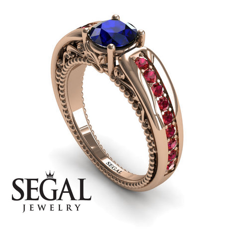 Stairway to Heaven Blue Sapphire Ring- Gabriella no. 8