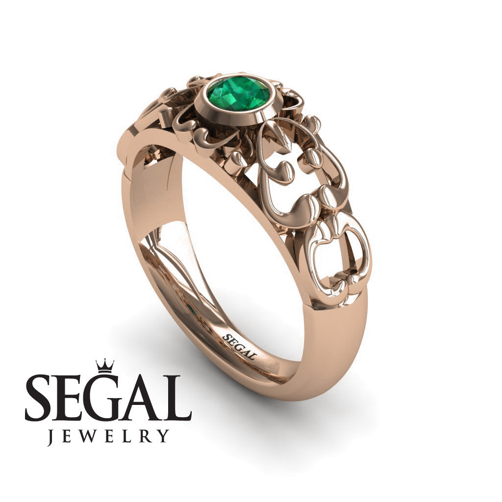 The Ancient Ring Green Emerald Ring- Makayla no. 8