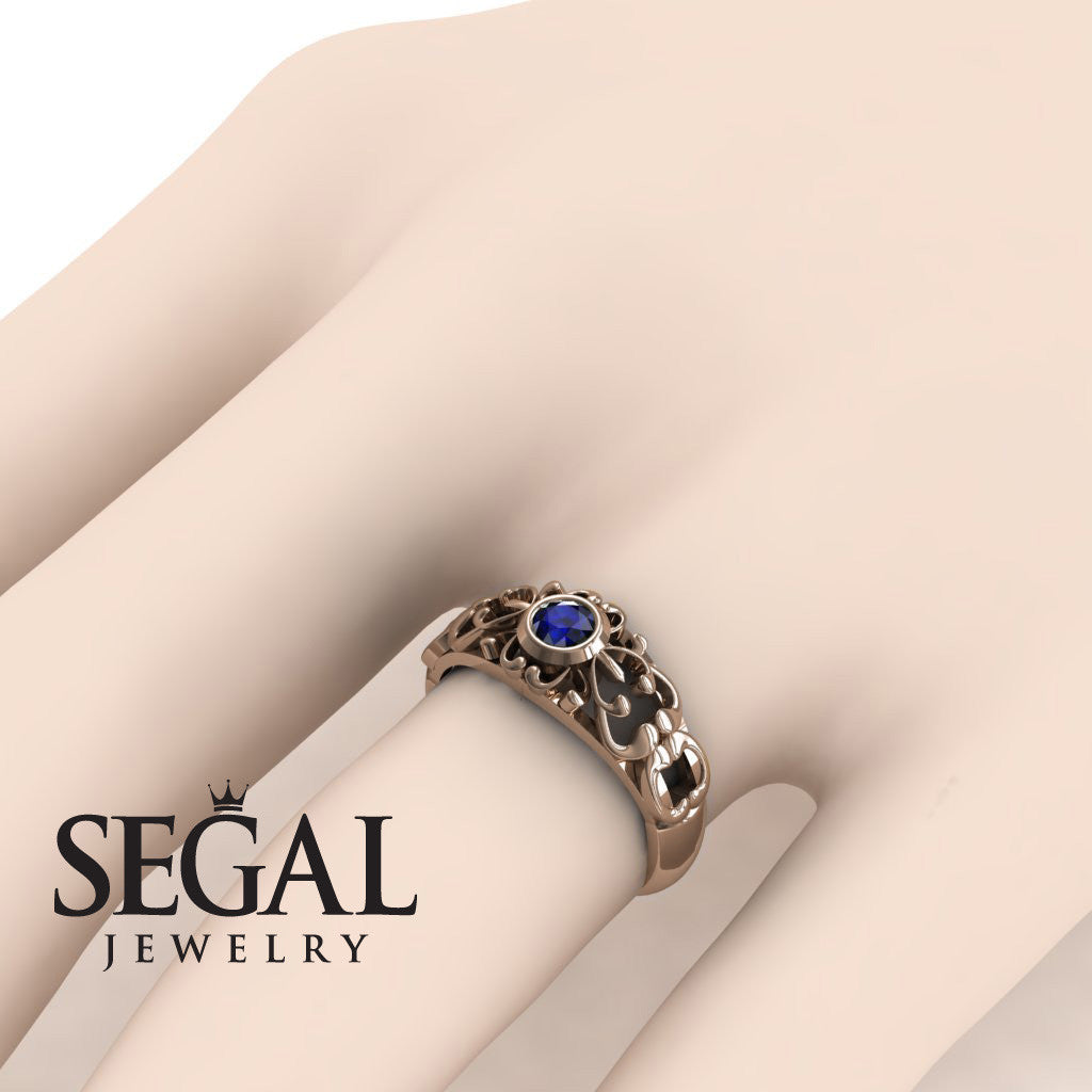 The Ancient Ring Blue Sapphire Ring- Makayla no. 14