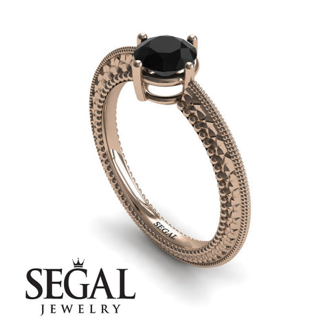 The Slim Edwardian Black Diamond Ring- Alexandra no. 8