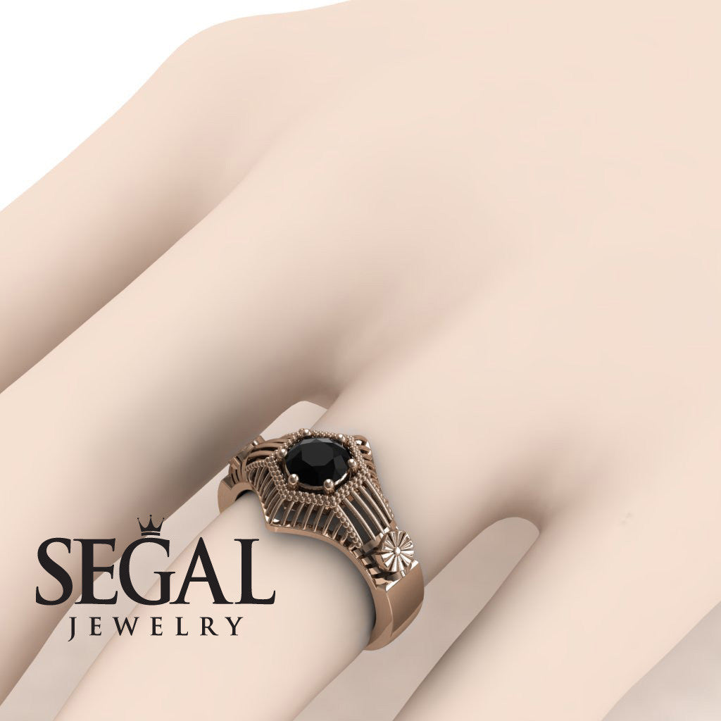 The Flower Cage Black Diamond Ring- Savannah noº 14