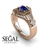 The Flower Cage Blue Sapphire Ring- Savannah noº 5