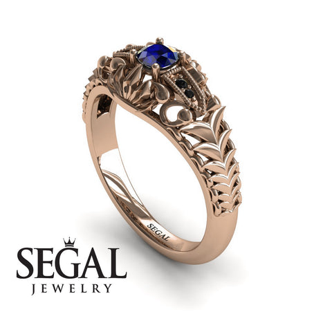 The Flying birds Blue Sapphire Ring- Cadence noº 11