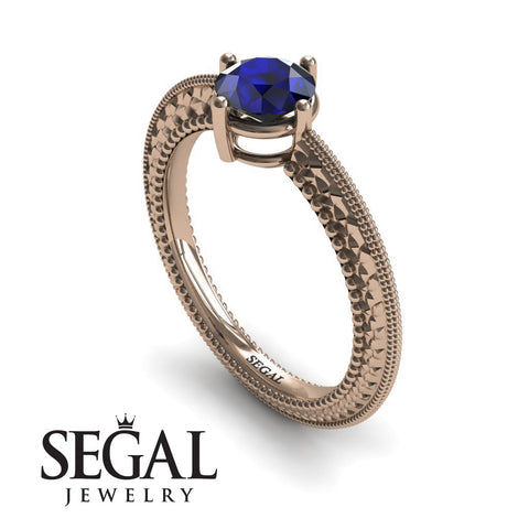 The Slim Edwardian Blue Sapphire Ring- Alexandra no. 14
