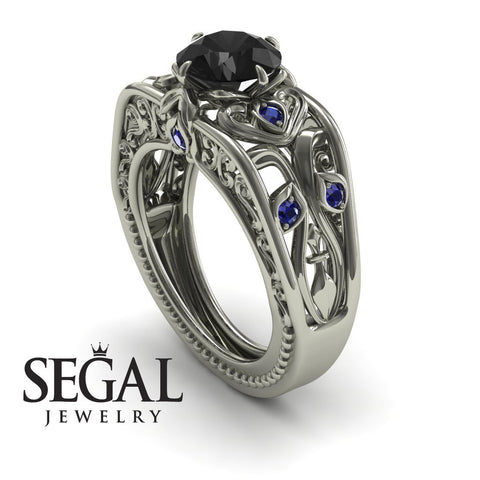 The Art Deco Choir Black Diamond Ring - Skyler noº 9