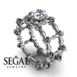 The Bamboo Power knot Diamond Ring- Sophia no. 3