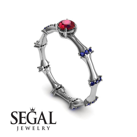 Fancy Bamboo Ruby Ring- Grace no. 9