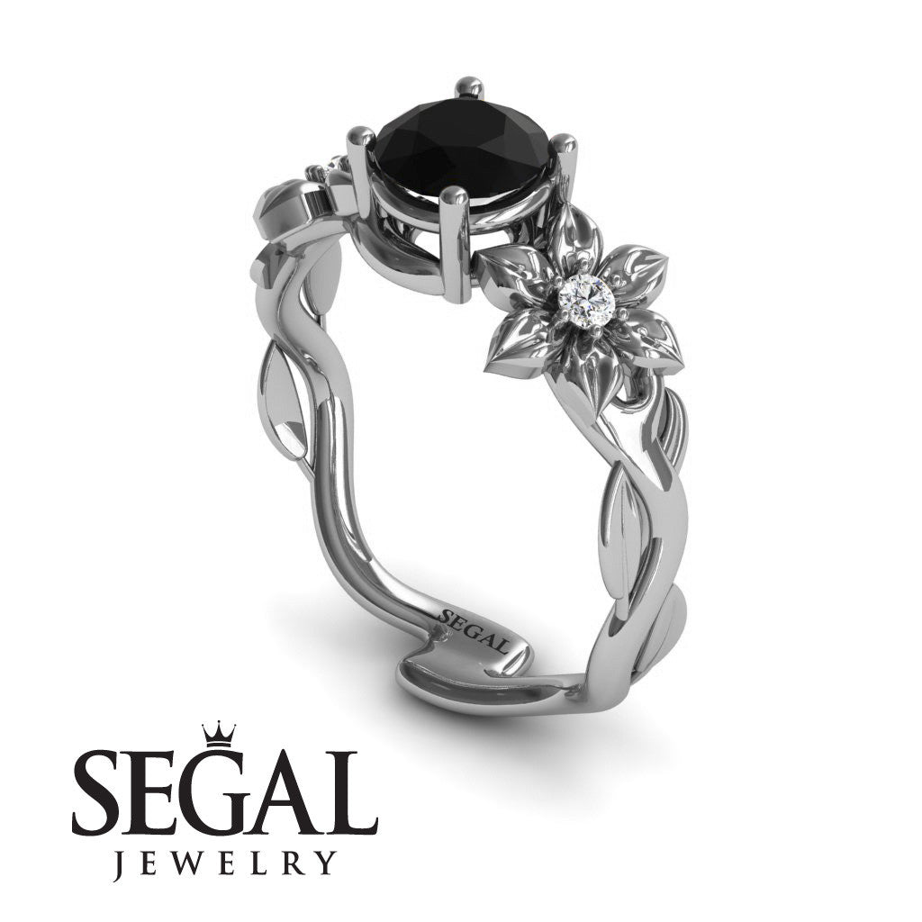 Floral Nature Inspired Engagement Ring - Julia no. 9