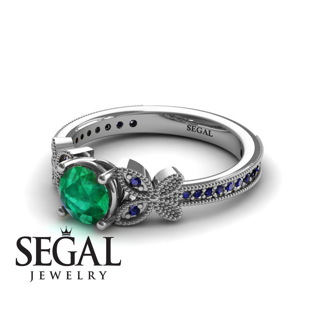 The Butterfly Stairs Green Emerald Ring- Amelia no. 9
