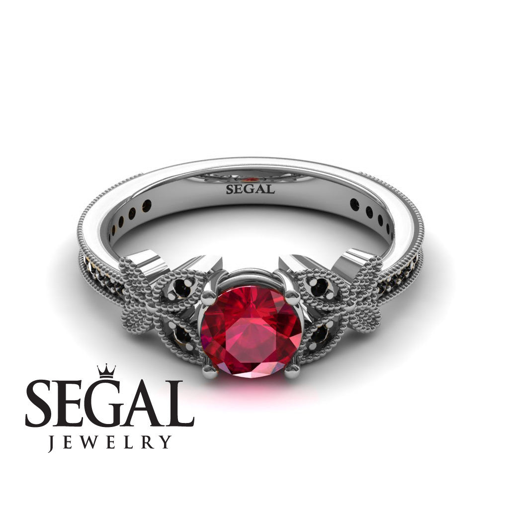 The Butterfly Stairs Ruby Ring- Amelia no. 12