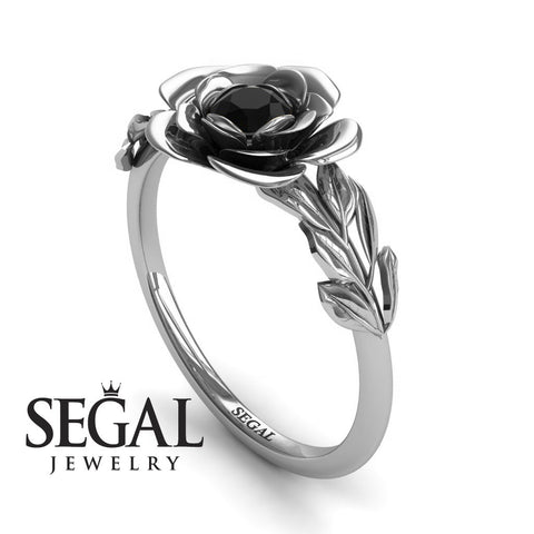Flower Solitaire Engagement Ring - Adalyn no. 12