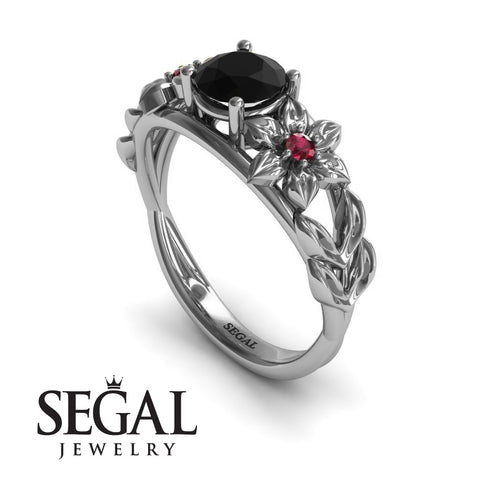 Flower Leaf Engagement Ring - Ella no. 12