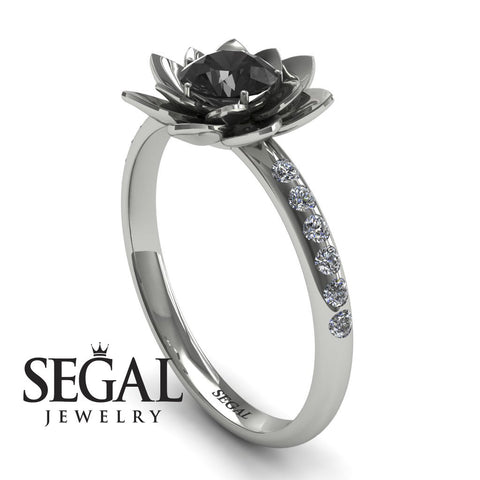 Flower Lotus Engagement Ring - Lotus no. 6