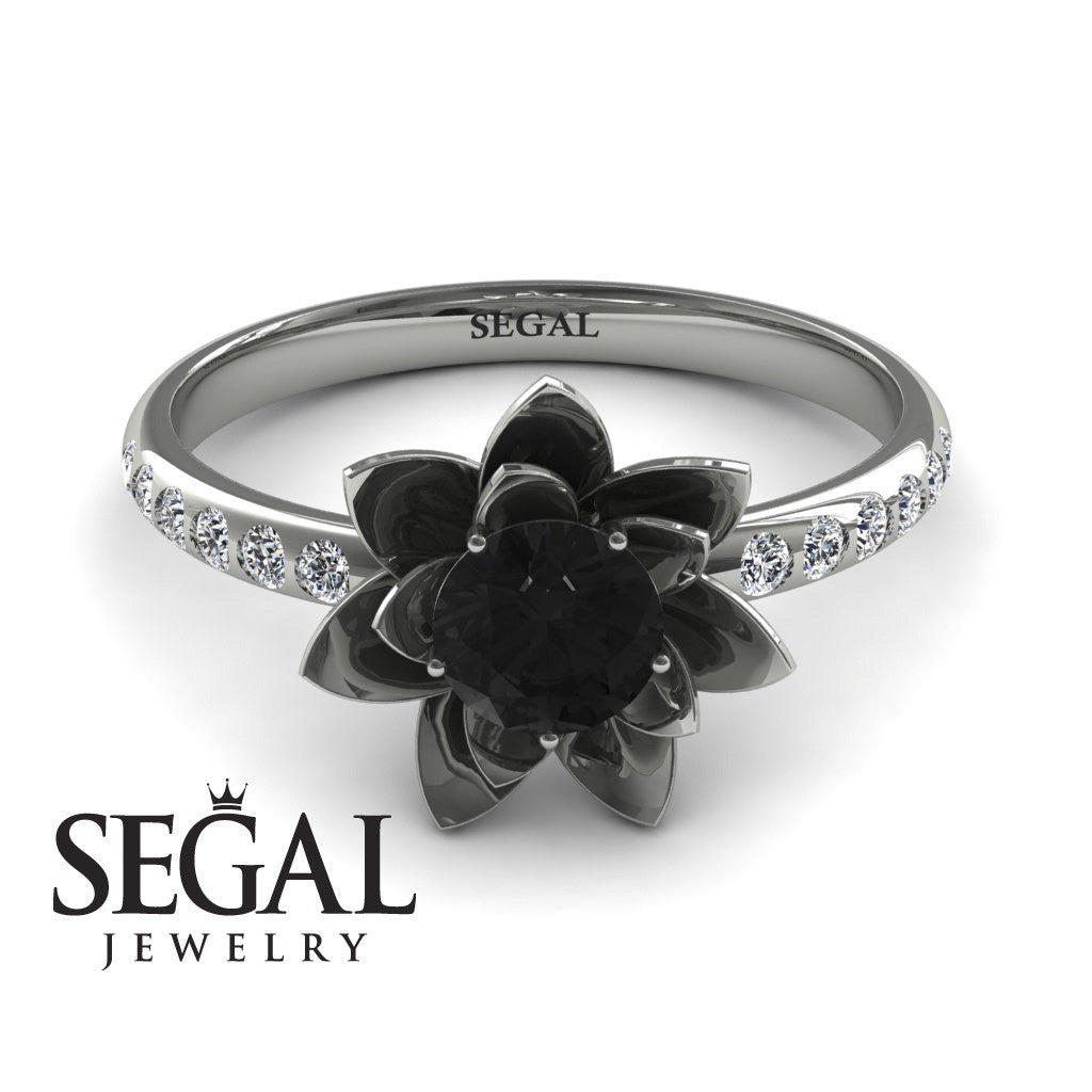 Flower Classic Engagement Ring - Lotus no. 6