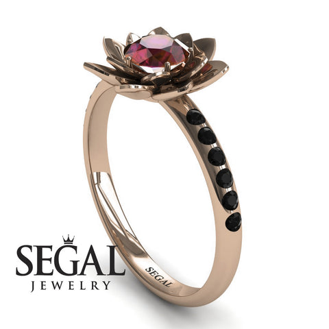 Lotus Flower Ruby ring - Lotus no. 8