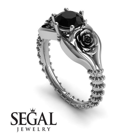 The Rose Spike Black Diamond Ring- Camilla no. 6