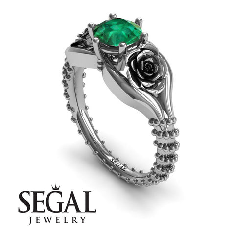 The Rose Spike Green Emerald Ring- Camilla no. 15