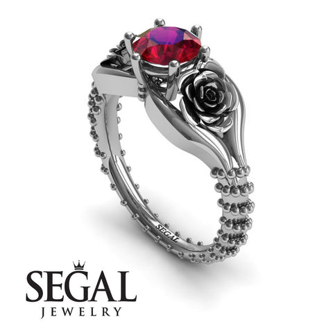 The Rose Spike Ruby Ring- Camilla no. 9