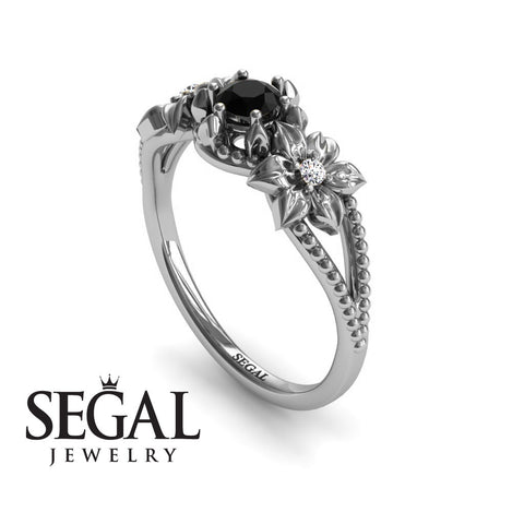 The Flower cocktail ring Black Diamond Ring- Kennedy no. 12