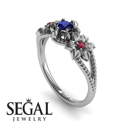 The Flower cocktail ring Blue Sapphire Ring- Kennedy no. 15