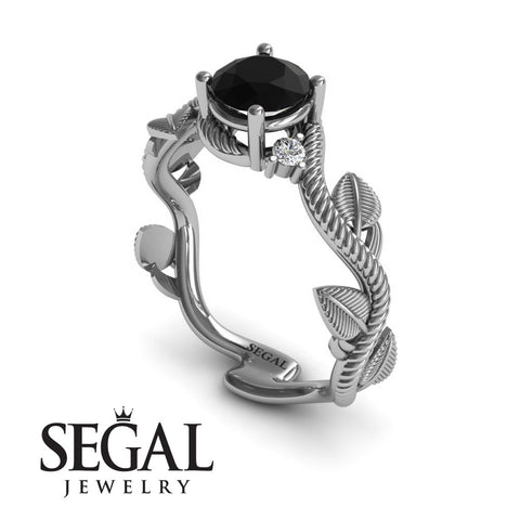 Leaf Twig Engagement Ring - Allison no. 6
