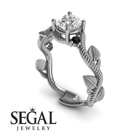 Leaf Branch Engagement Ring - Allison no. 9