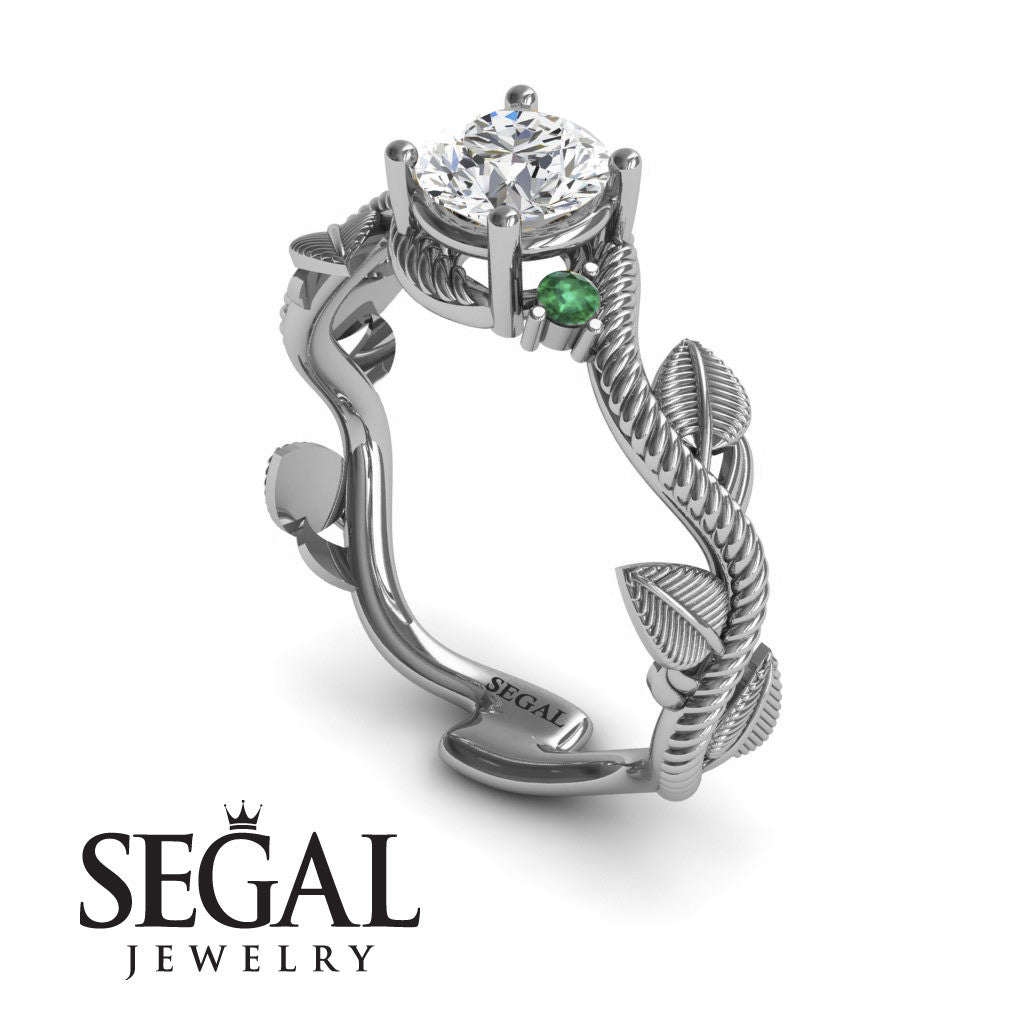 Leaf Twig Engagement Ring - Allison no. 21