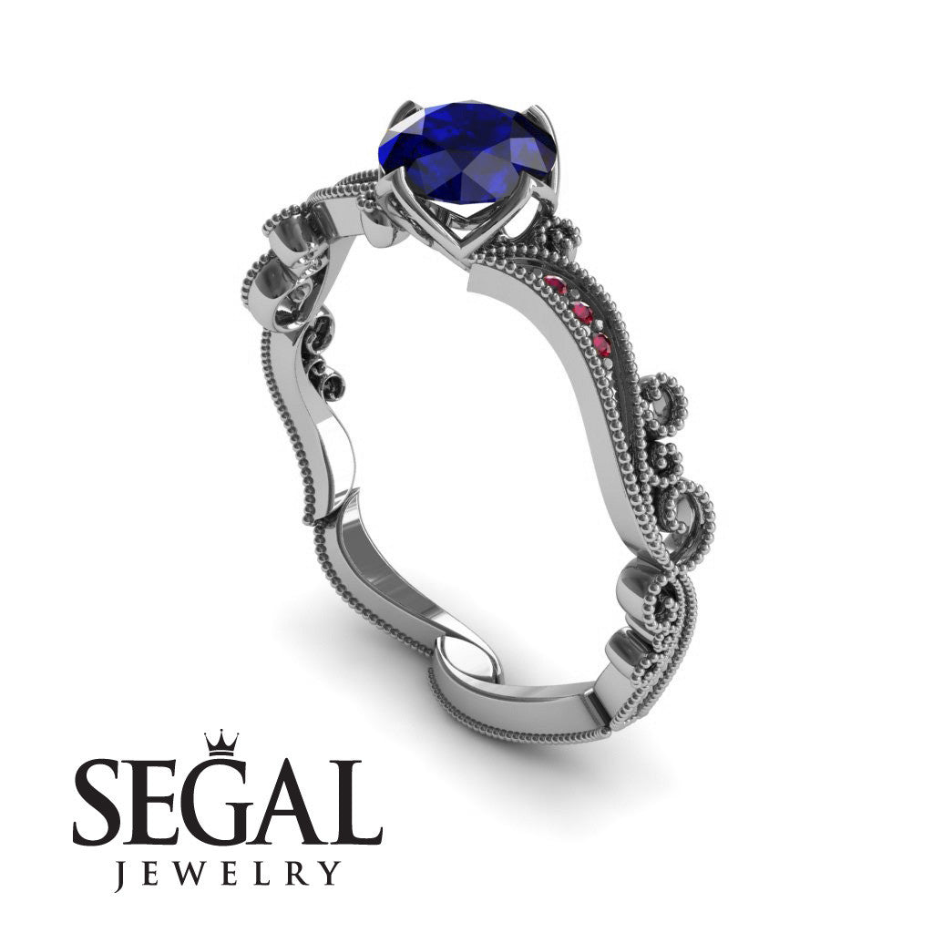 Painter's Muse Blue Sapphire Ring- Sophie no. 6
