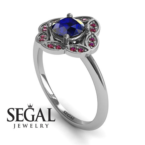 A Princess Ring Blue Sapphire Ring- Lucy no. 9
