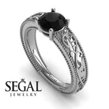 Vintage Melody Black Diamond Ring 1 carat- London no. 12