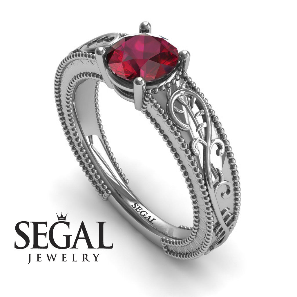 Vintage Melody Ruby Ring- London no. 6