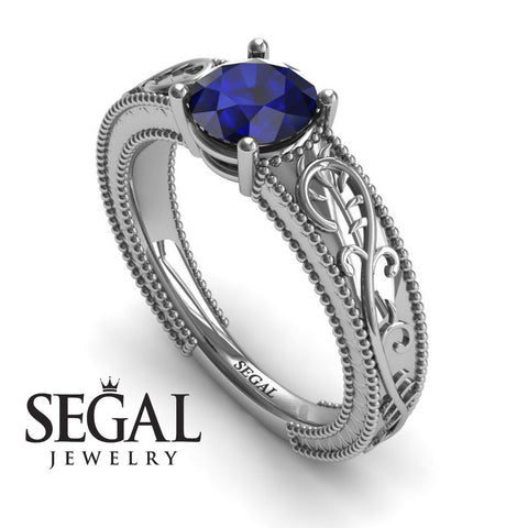 Vintage Melody Blue Sapphire Ring- London noº 9