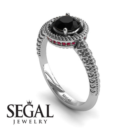 The Vintage Bling Black Diamond Ring- Penelope noº 6