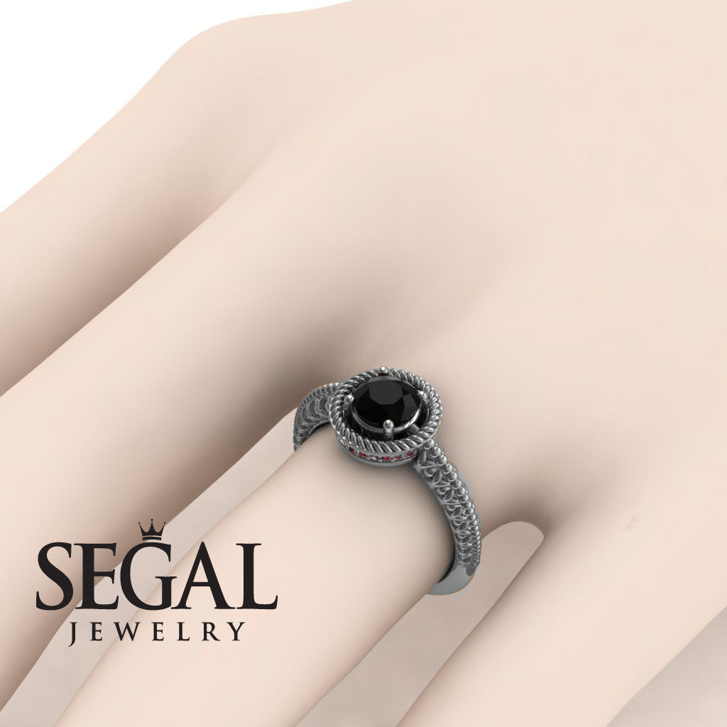 The Vintage Bling Black Diamond Ring- Penelope no. 6