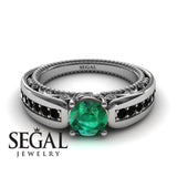Stairway to Heaven Green Emerald Ring- Gabriella no. 15