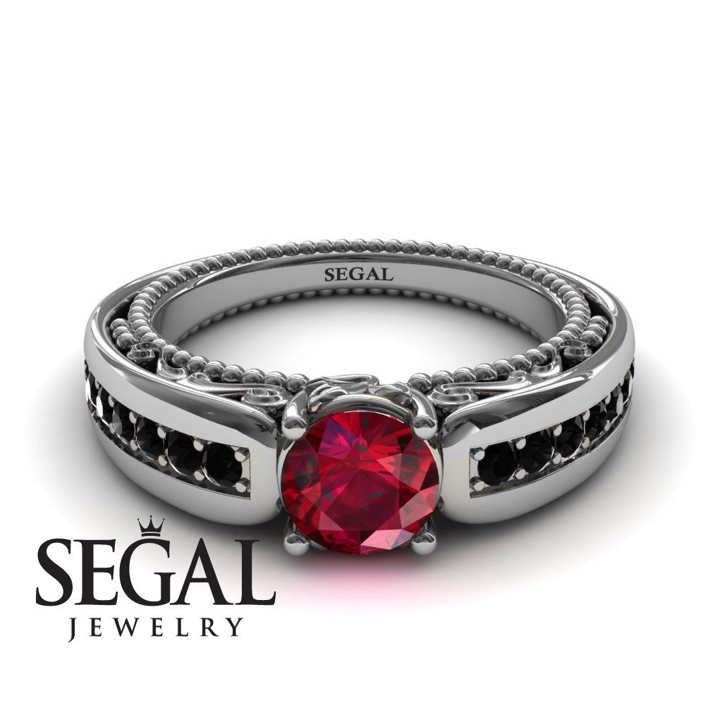 Stairway to Heaven Ruby Ring- Gabriella no. 12