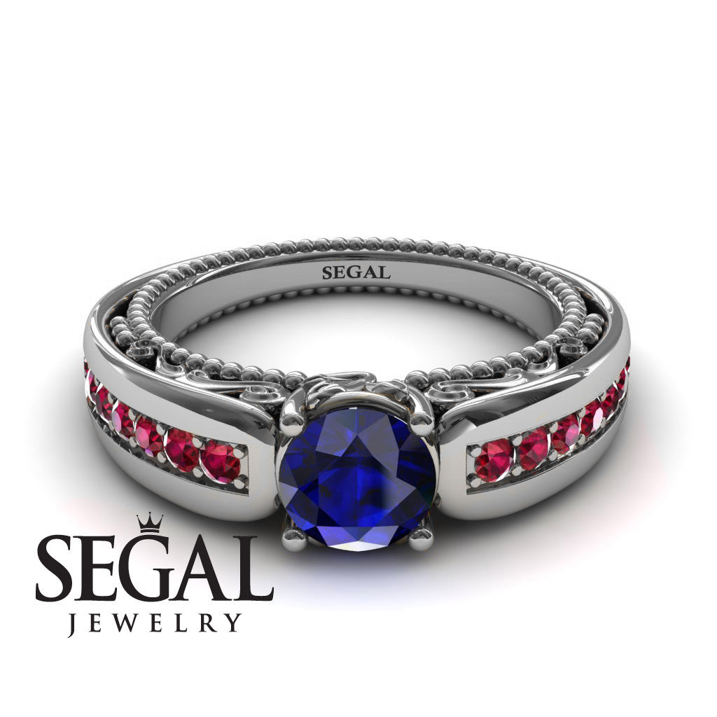 Stairway to Heaven Blue Sapphire Ring- Gabriella no. 9