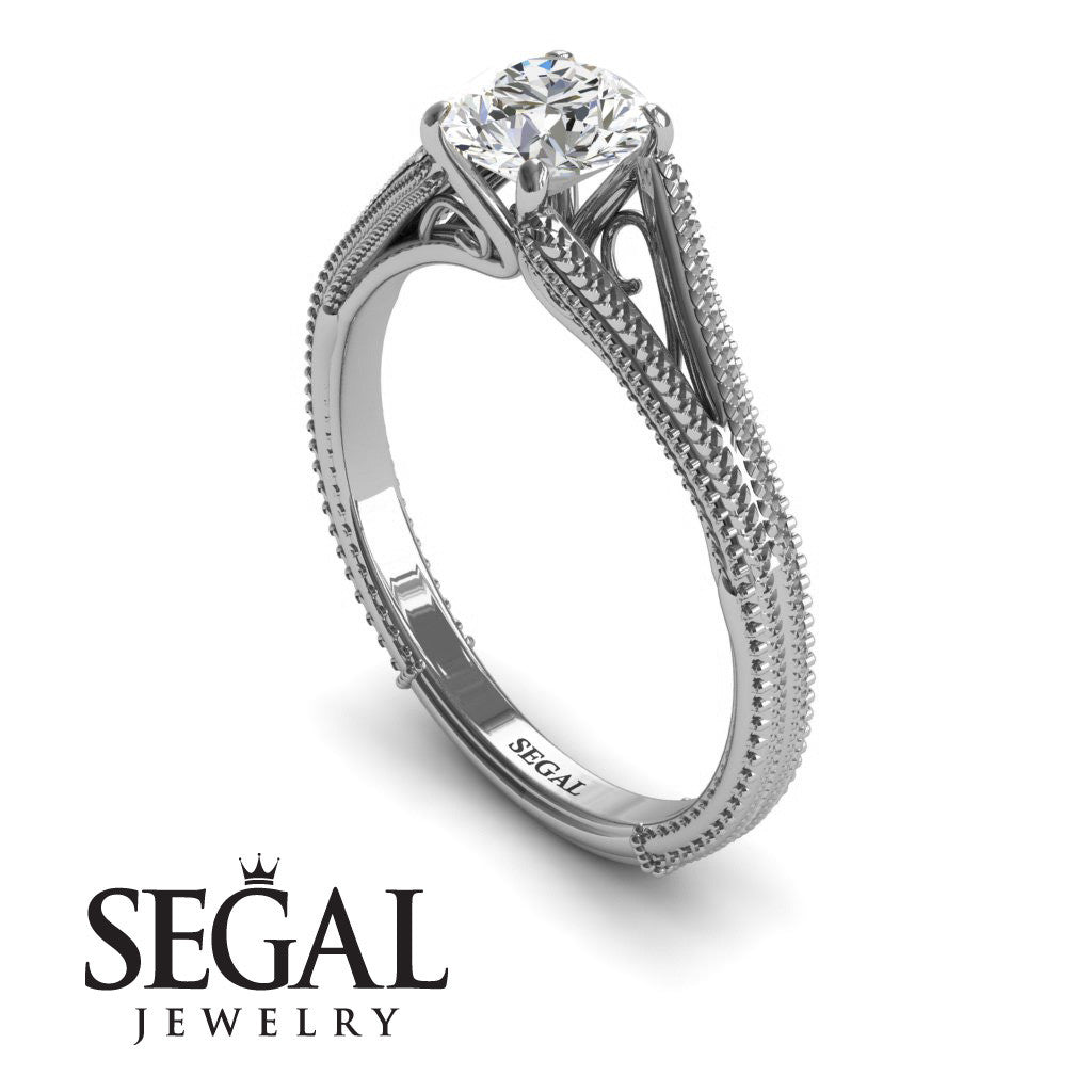 Solitaire Victorian Engagement Ring - Eva no. 3