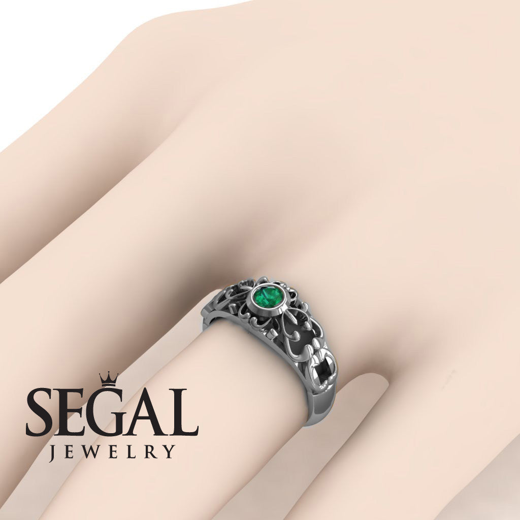 The Ancient Ring Green Emerald Ring- Makayla no. 9