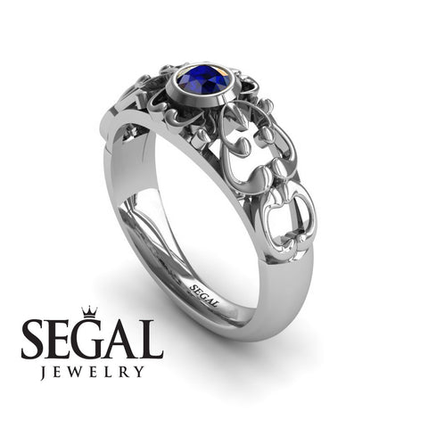 The Ancient Ring Blue Sapphire Ring- Makayla no. 15