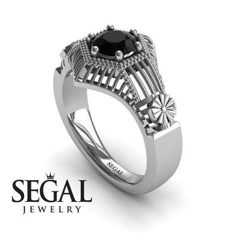 The Flower Cage Black Diamond Ring- Savannah noº 15