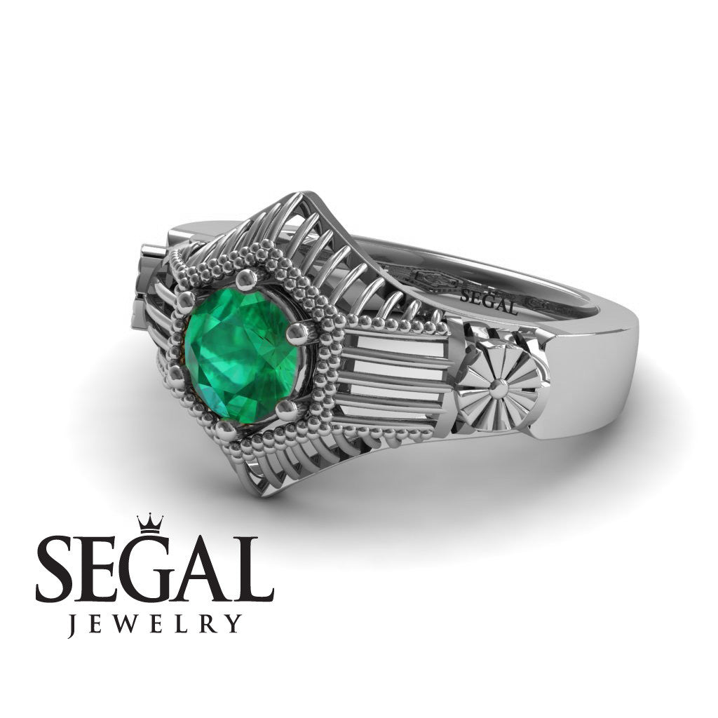 The Flower Cage Green Emerald Ring- Savannah noº 12