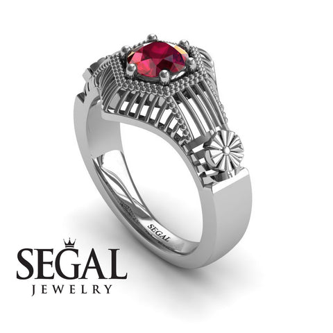 The Flower Cage Ruby Ring- Savannah noº 9