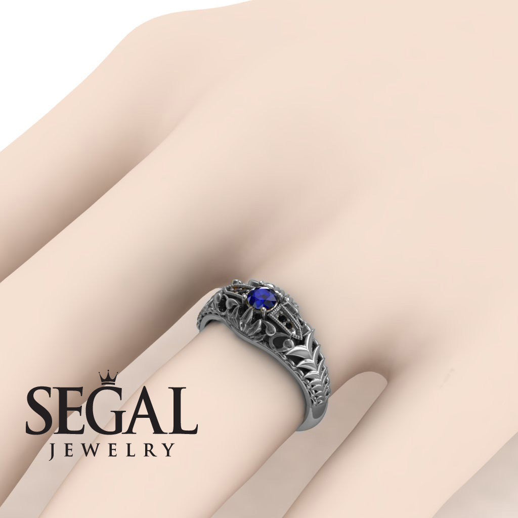 The Flying birds Blue Sapphire Ring- Cadence noº 12