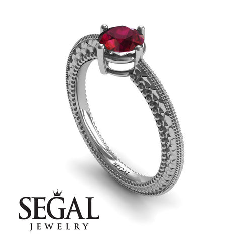 The Slim Edwardian Ruby Ring- Alexandra no. 6