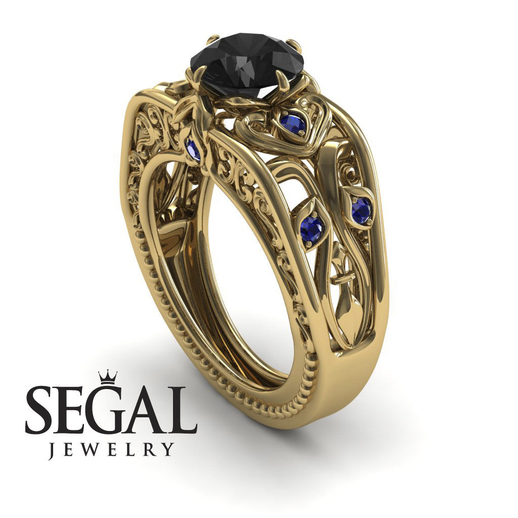 The Art Deco Choir Black Diamond Ring - Skyler no. 7